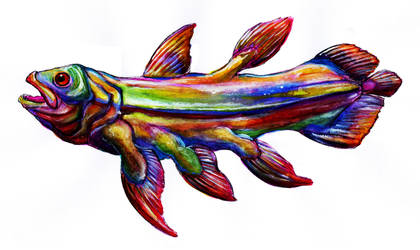 Prismatic Coelacanth by thomastapir