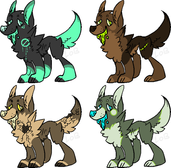 Puke Dogs 1 by LobsterAdopts