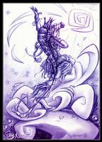 Ancient Wisdom - Sky Dancer by KatCardy