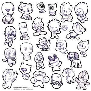 Gogos Crazy Bones Sketches