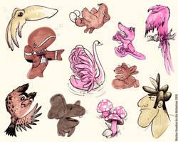 Marker Doodles by KatCardy