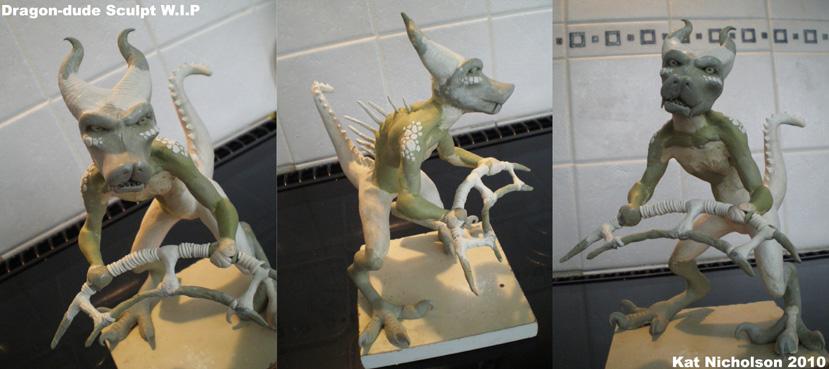 Dragon-dude Sculpt WIP by Kat-Nicholson