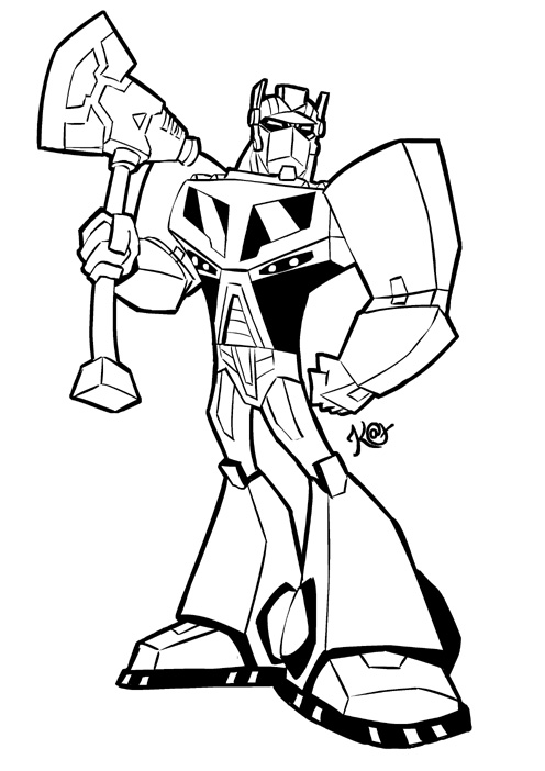 optimus prime animated coloring pages | Optimus Prime Colouring Page by KatCardy on DeviantArt