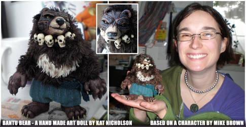 Bantu Bear Original Art Doll