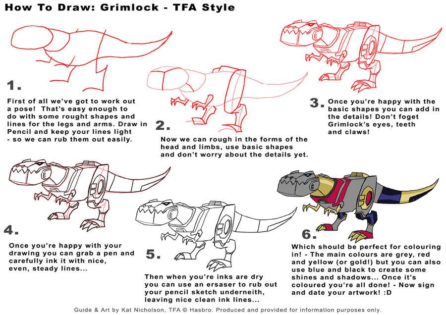 KIDS How to Draw TFA Grimlock by Kat-Nicholson
