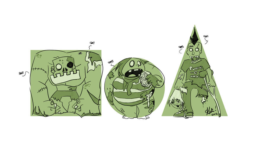 square, circle, triangle - zombies by Kat-Nicholson