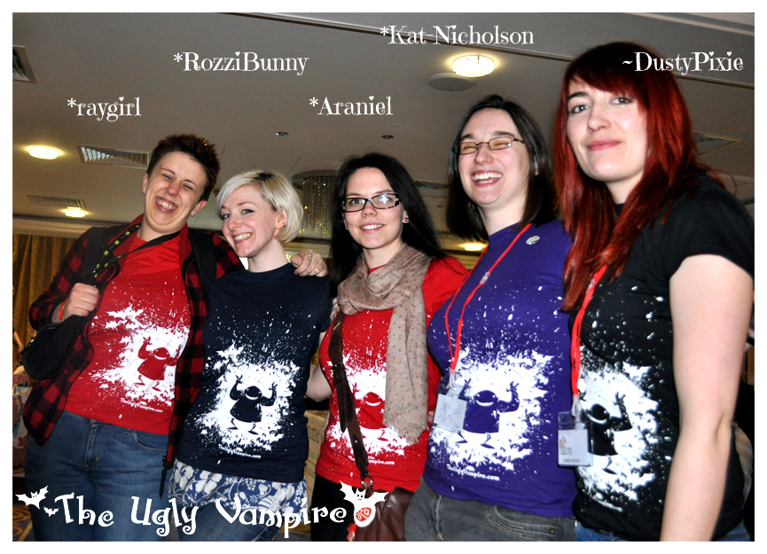 The Ugly Vampire Launch - Shirts Close up! by Kat-Nicholson