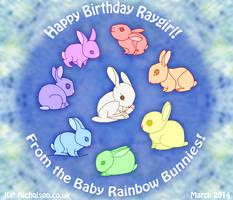 Baby Rainbow Bunnies! by KatCardy