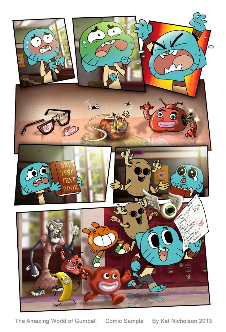 Gumball Sample Comic by Kat-Nicholson