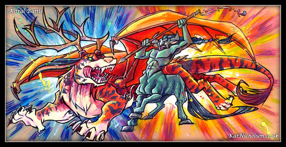 Astral Battle by Kat-Nicholson