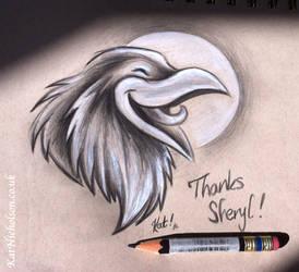 laughing raven patreon thank you sketch