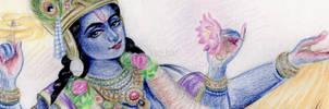 Vishnu by sattvyogini