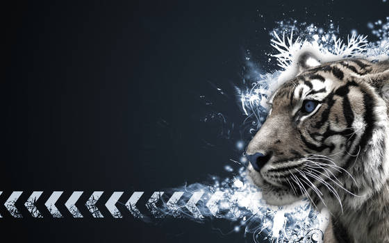 Tiger Vector Widescreen C by Sed-rah