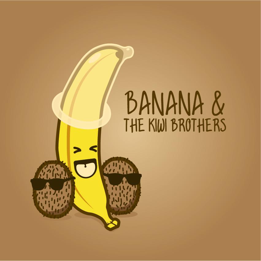Banana and the Kiwi Brothers by Sed-rah