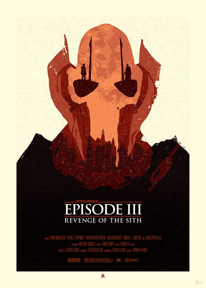 Star Wars Poster General Grievous By Sed Rah On Deviantart