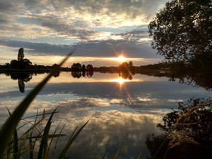 Sunset at Putwiel, Herpen NL