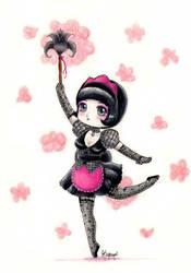 Dancing maid art-trade