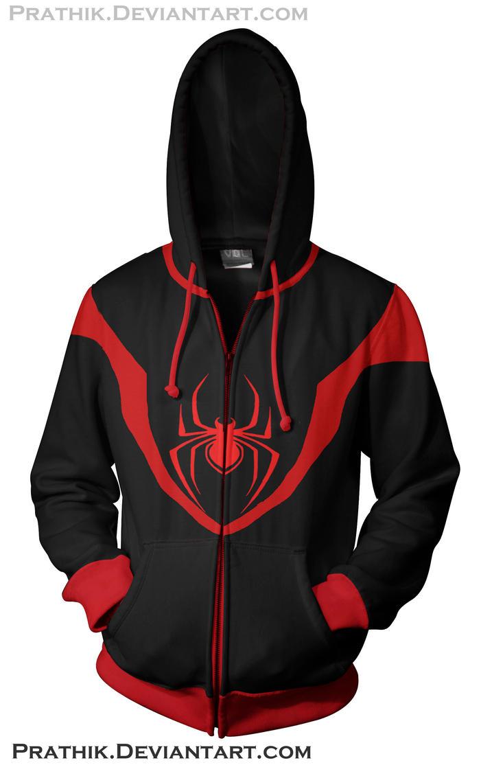 Ultimate Spiderman - Miles Morales Hoodie by prathik