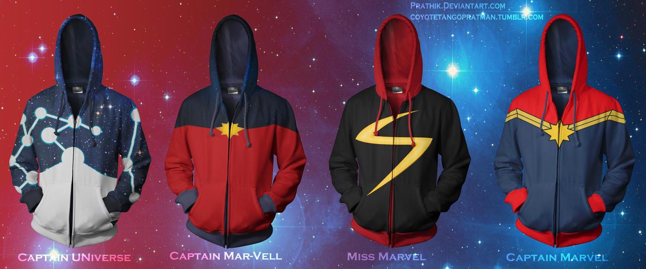 Captain Universe/Captain Mar-Vell/Miss Marvel by prathik