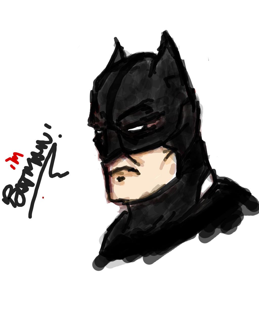 Graphics Tablet Sketch - I'm Batman by prathik