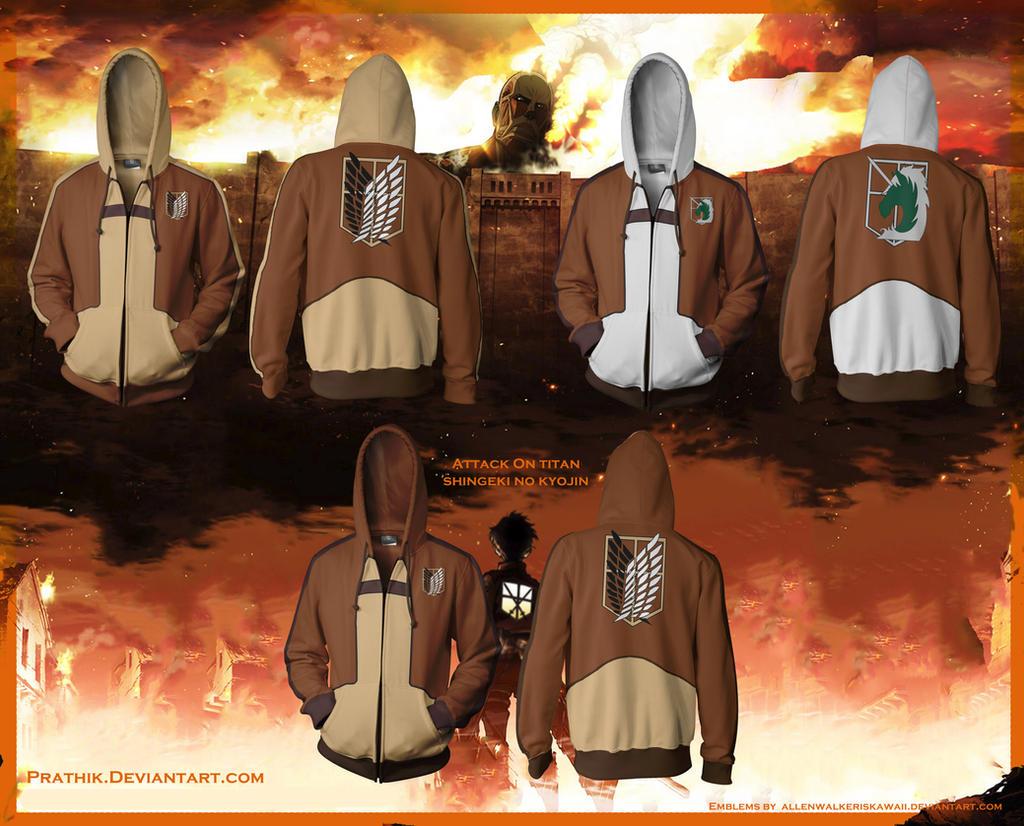 Attack on Titan / Shingeki no Kyojin Hoodies! by prathik