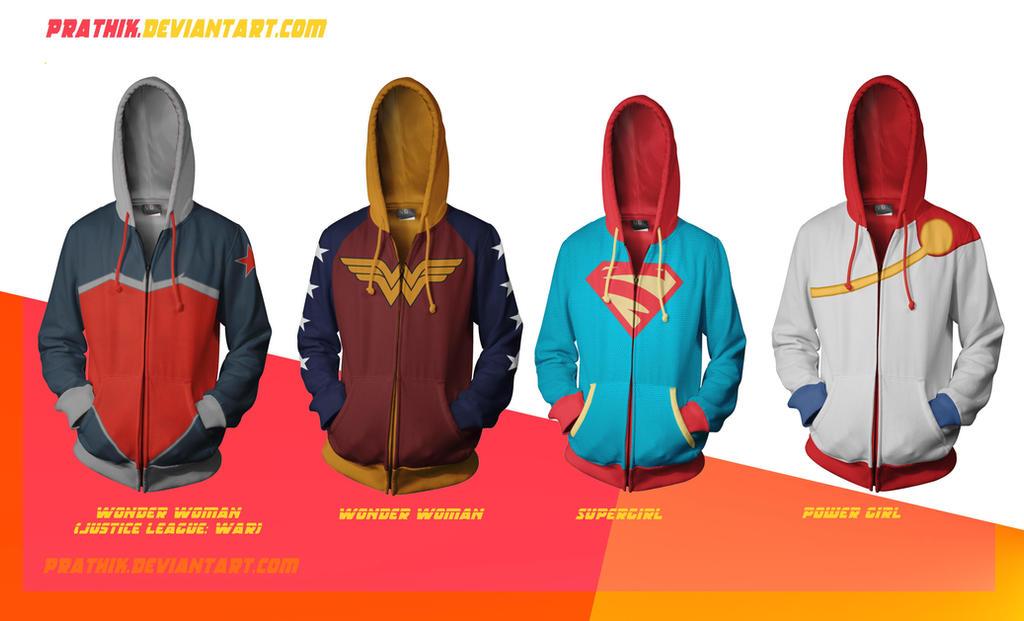 DC Ladies! WonderWoman/Supergirl/PowerGirl by prathik