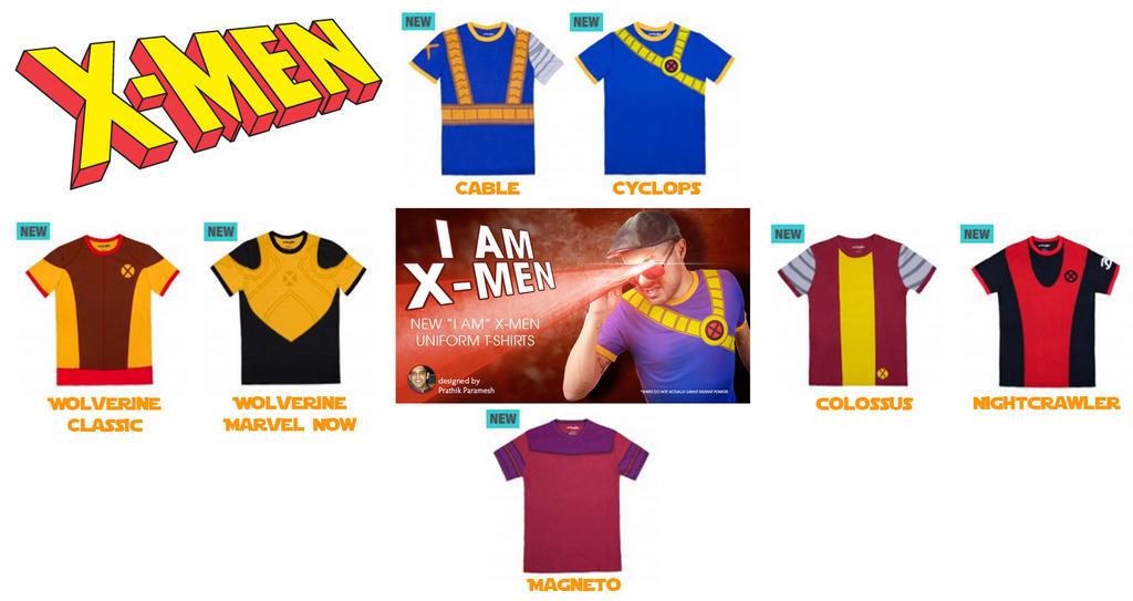 My Official X-Men Shirts! by prathik