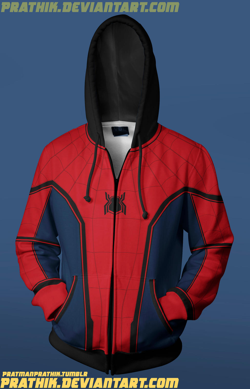 Civil War Spidey Hoodie Concept! by prathik