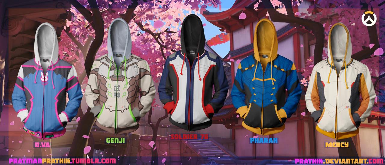 Overwatch Hoodie Designs! by prathik