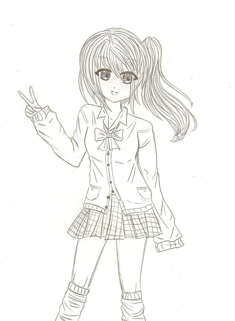 Casual Chibi Girl Coloring Pages