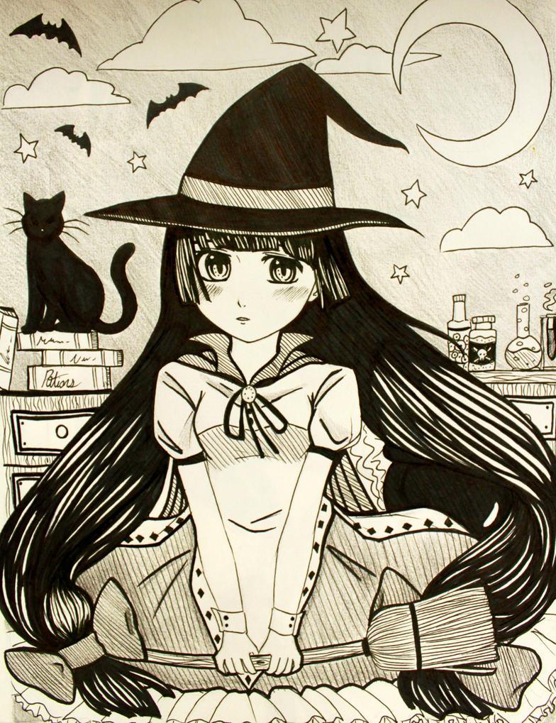 Cute Witch~ by kawaii-little-neko