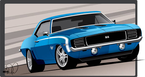 69 Camaro Lemans blue by cityofthesouth