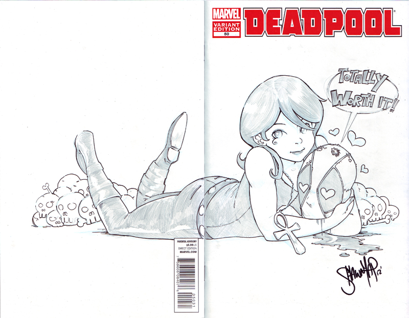 Deadpool sketch cover - Deadpool and Death by 13wishes