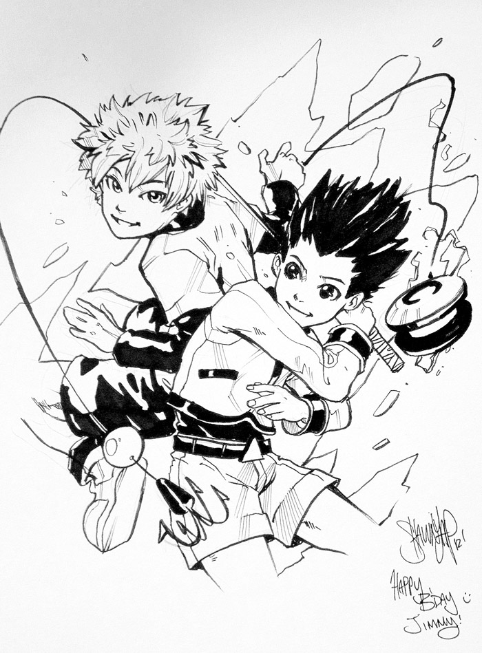 Hunter X Hunter - Gon and Killua by 13wishes