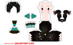 chibi vanellope papercraft