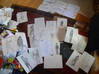 sketches from the internship by punkandartStJimmy
