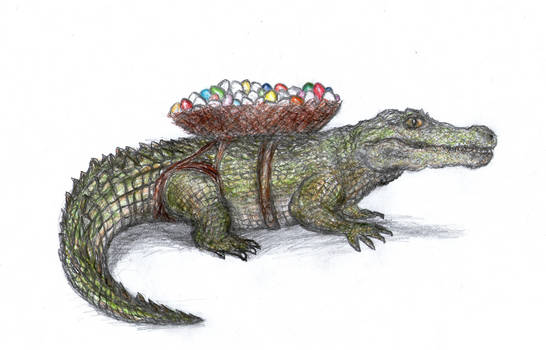 Easter Crocodile