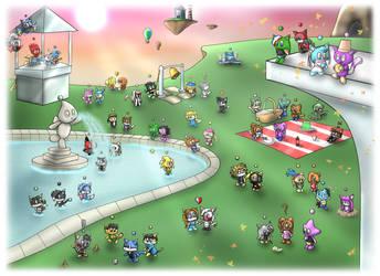 DA Chao Secret Heroes Garden by Morgan-the-Rabbit