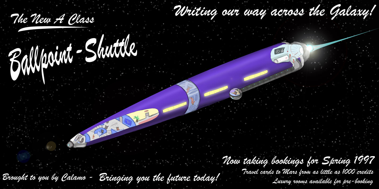 Contest entery - The Ballpoint Shuttle by Morgan-the-Rabbit