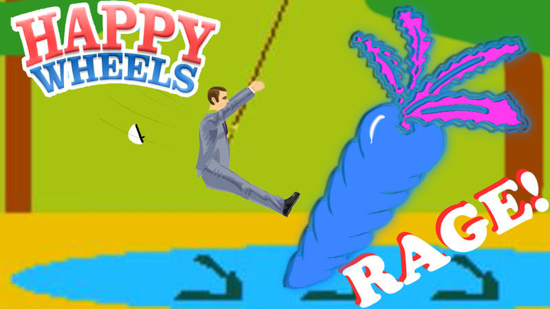 Как сделать rope swing в happy wheels