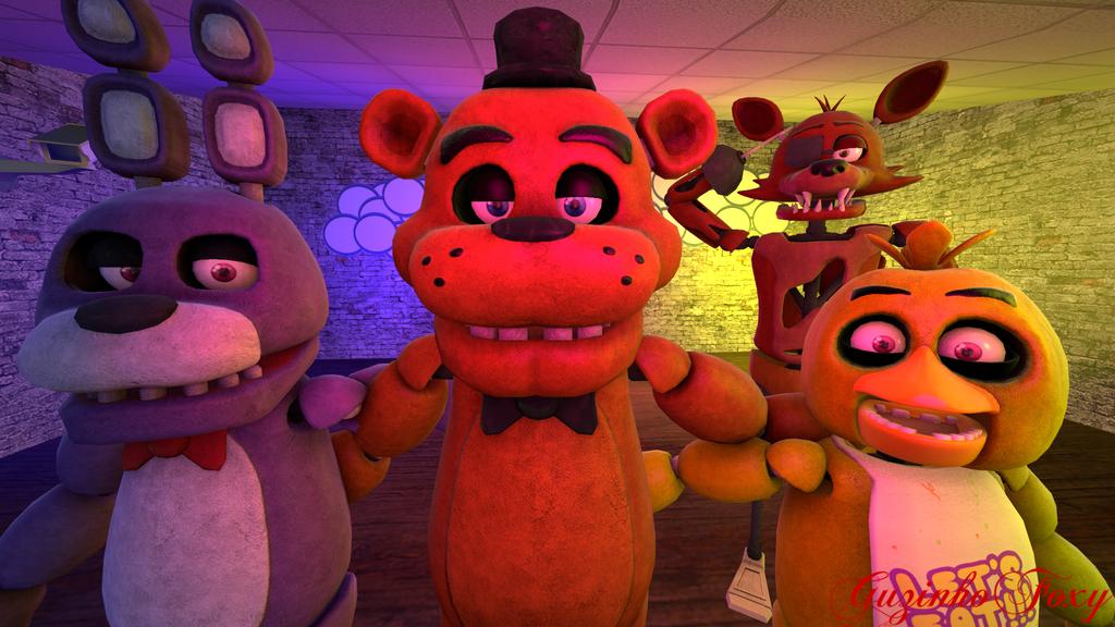 (FNAF SFM) Freddy,Bonnie,Chica,Foxy Fnaf2 by