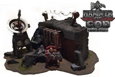 Warhammer 40k bunker by Hammer of God miniatures by erichamiltonart