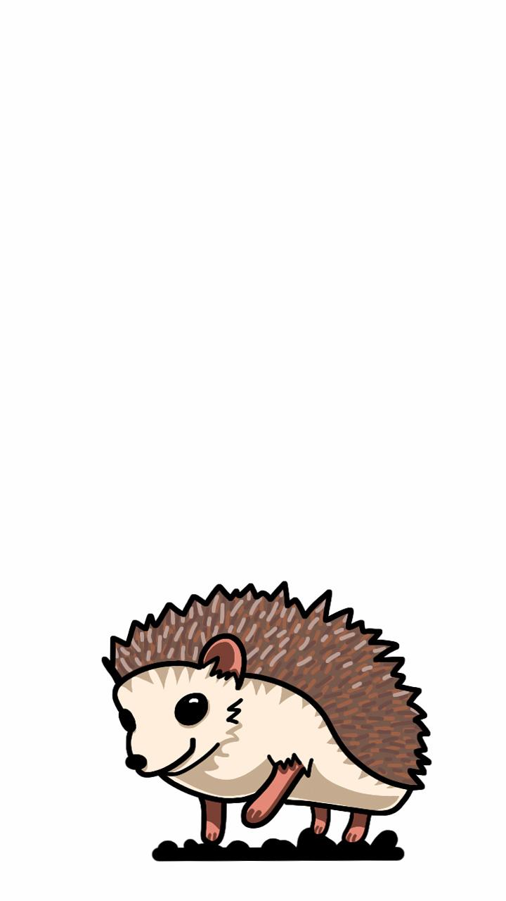 Kawaii hedgehog by Thetonathor