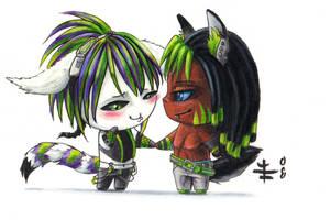 Chibi Zacari and Azrael by AnimeGirlMika