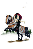 Chibi Trent - Black Horse by AnimeGirlMika