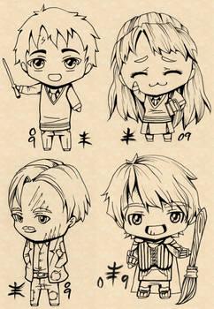 Harry Potter Chibi Linearts