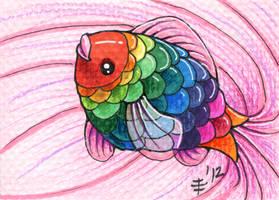 FurIdaho ACEO I - Fiesta Fish by AnimeGirlMika