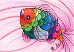 FurIdaho ACEO I - Fiesta Fish