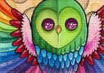 FurIdaho ACEO II - Rainbow Owl
