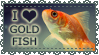 Stamp - I Heart Goldfish by StudioMikarts